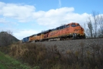 Parked BNSF coal drag