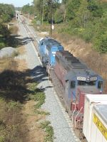 HLCX 6205 helping out a CONRAIL 8809 with engine problems