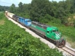GCFX 3058 leads an all EMD consist