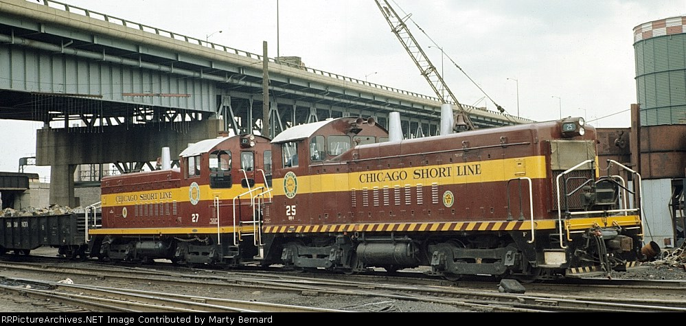 Chicago Short Line Switchers #25 and #27 in 1966