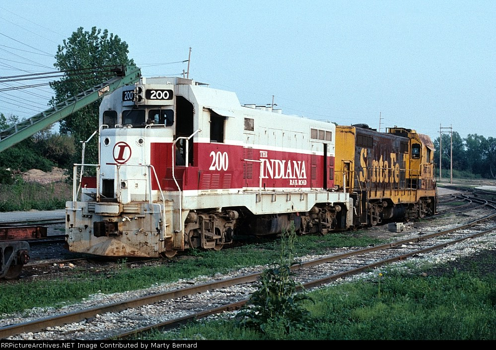 Indiana RR CF7 #200 ex-ATSF F7A Wrecked 12/89 Seen