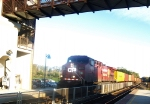 The Morning Suns Plays with a Flatlander Freight, One Unit Handles a Long Intermodal at Speed