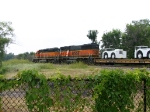 BNSF 338 heads EB with manifest traffic