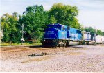 Northbound CSX with Ex CR Unit on the lead