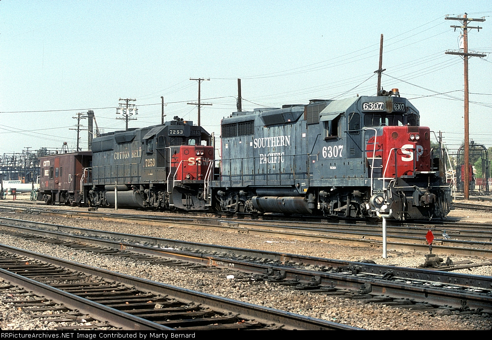 SP 6307 and SSW 7253 With SSW Caboose