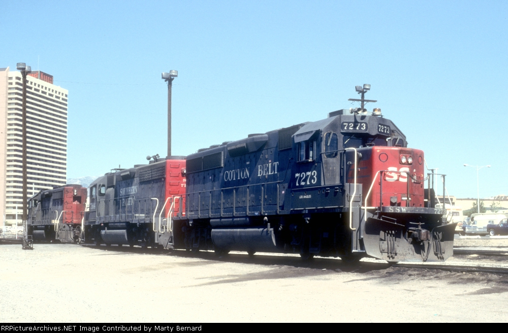 SSW 7273 and SP 7104 and 7259 Between Games -- No Between Trains