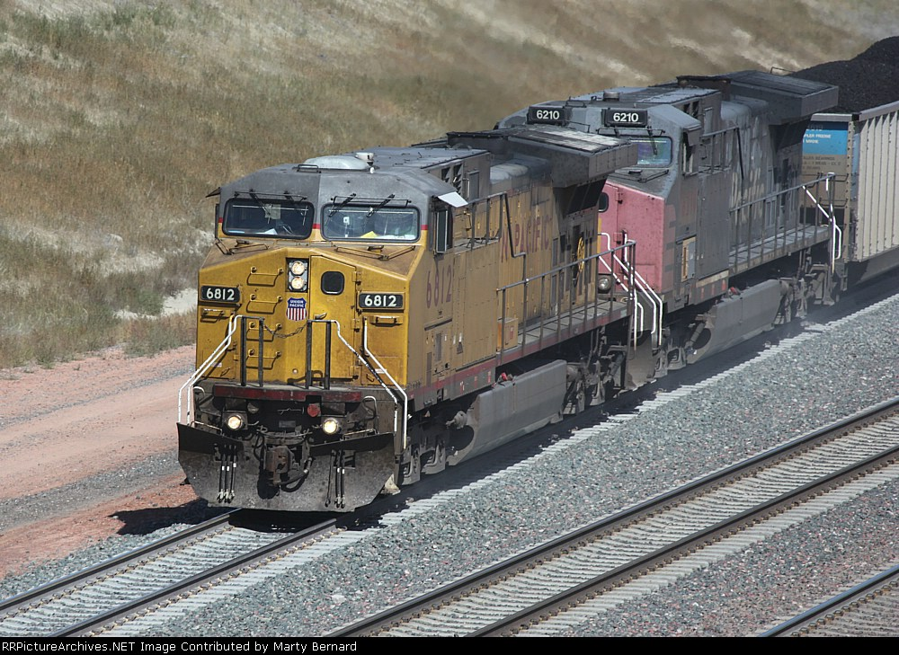 UP 6812 and 6210 With Coal