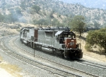 "SP 7336 and 8540 With SB ""Cans"" on Tehachapi Loop"