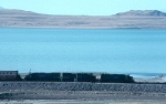SP 7525 and SistersCrossing the Great Salt Lake in 1991