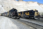 Side by Side Tunnel Motors:  SP 8532 and D&RGW 5394