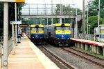 Two train meet at Smithtown