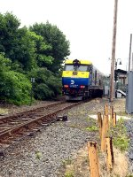 Due to the addition of a second track on the Ronkonkoma mainline 412 lays over at Yaphank