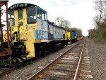 Two work trains meet at YA