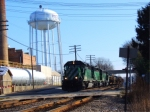 Three BNSF SD40-2s lead WB Mixed Freight