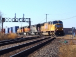 Variety of Color & Power at UP/BNSF Diamond