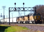 Trio of UP SD40-2s
