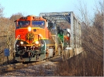BNSF WB TOFC/Rock River Bridge
