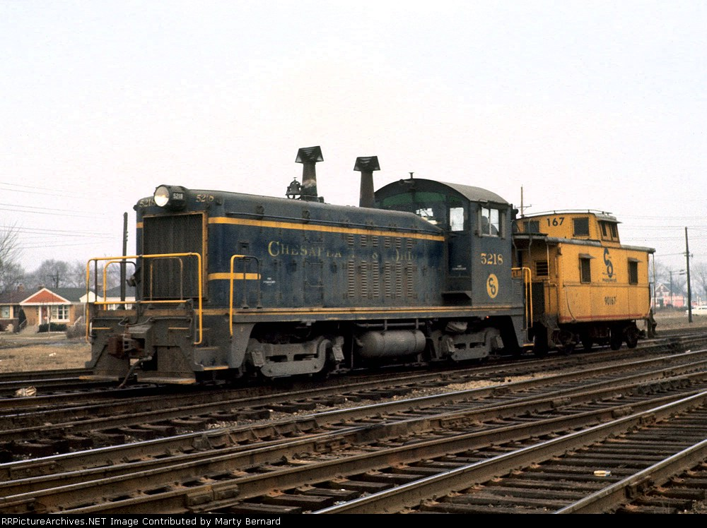 C&O 5218 and 90167 at 75th and Campbell