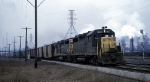 C&O GP35 3523 and a GP30 Haul Past Steel Mills
