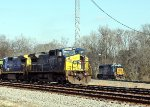 CSX 7366 and CSX 8568 at South End of Yard