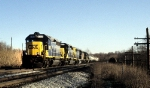 CSX 6207 and 8184 and Three Sisters Roll a Freight