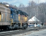CSX 6211 and 6242 About to Pass the Amtrak Station