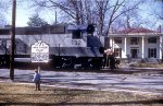 My First Born Railfanning -- Note Railfan Across Railroad Ave.