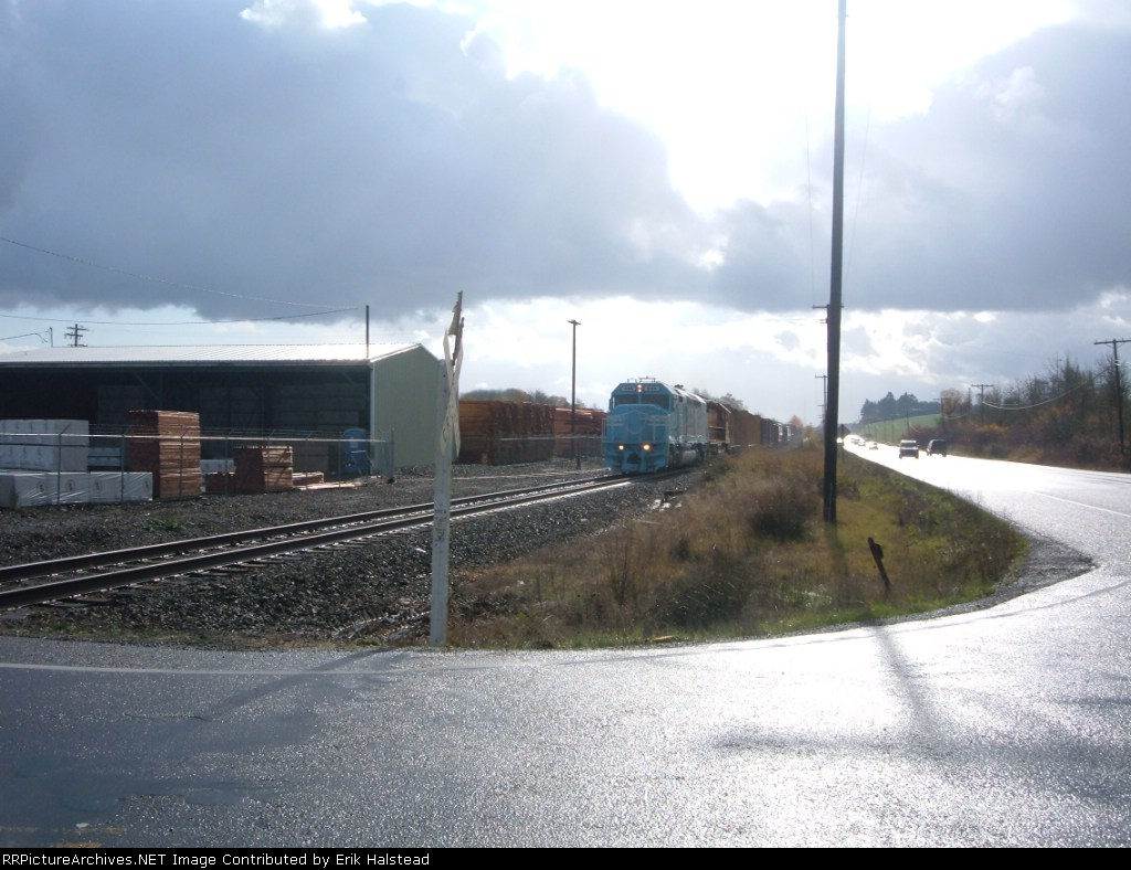 DLM 644 leads the Westsider at Marys River Lumber Company