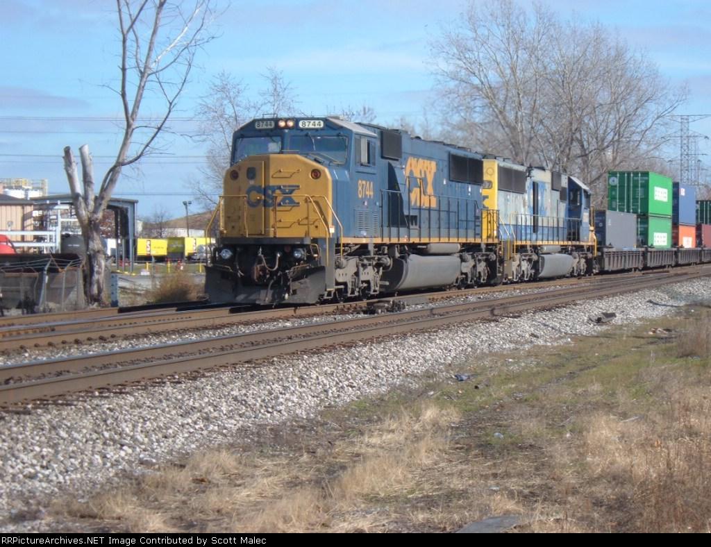 CSX 8744 & 8707