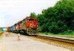 CN & CR Power on a CSX Train