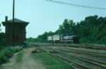 Richmond, Fredericksburg and Potomac Railroad EMD GP40 No. 126 setting out cars