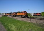 "BNSF 4040 Leads a Westbound ""Z"" train over the SOO diamond at Detroit Lakes"