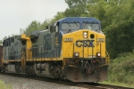 CSX 352 gets a Herzog ballast train on the roll again