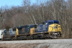 CSX 7832 along w sisters 5264 and 8706 roll south