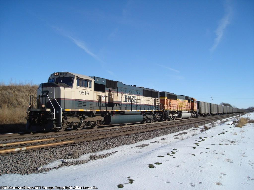 BNSF 9818 west