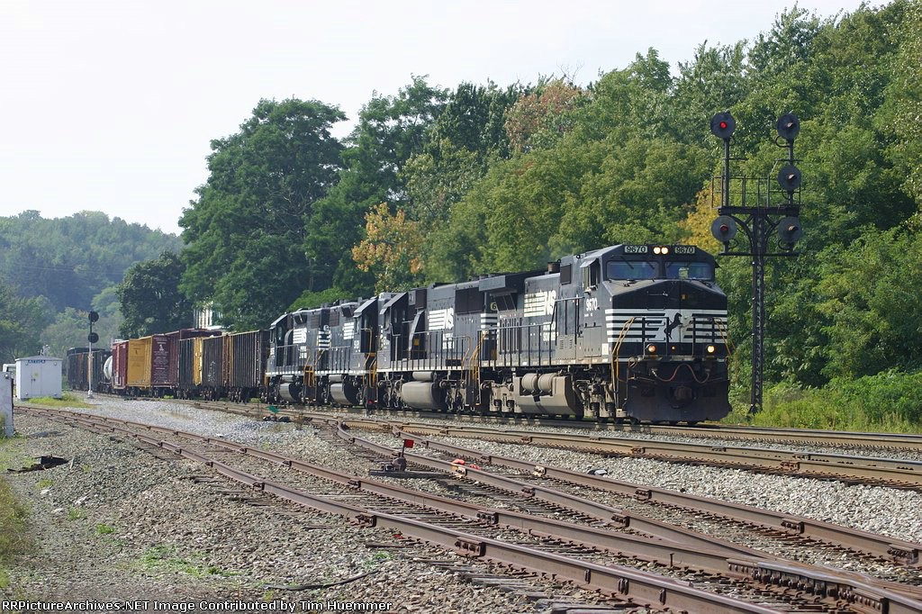 Eastbound passing an Erie relic