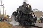 SOO 1003 blows off steam in the rain