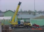 Preparing the crane