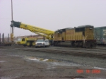 UP 4647 and crane