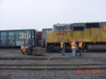 UP 4647 and forklift