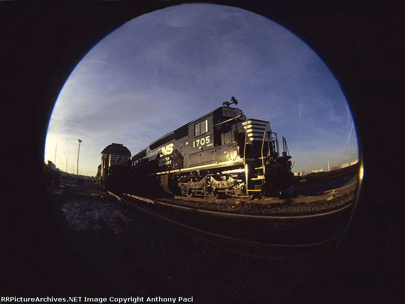 Fish-eye view of an SD45-2