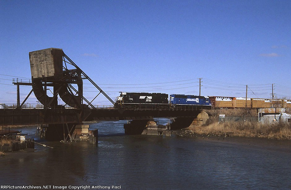 SA42 crossing an old drawbridge