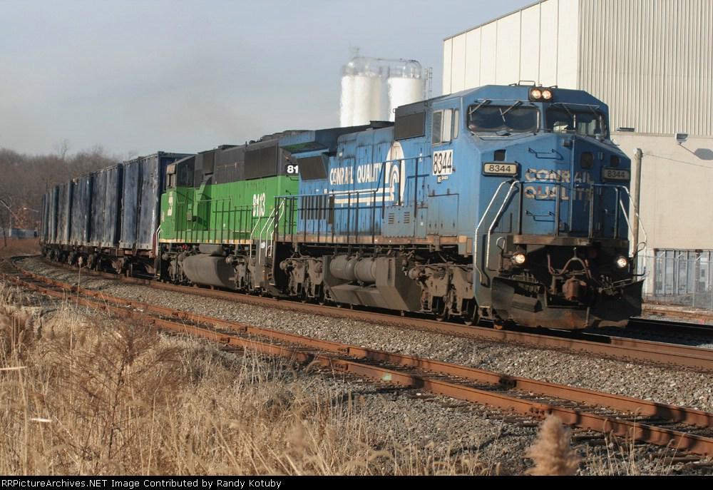 NS 8344 & BNSF 8113 at South Plainfield NJ