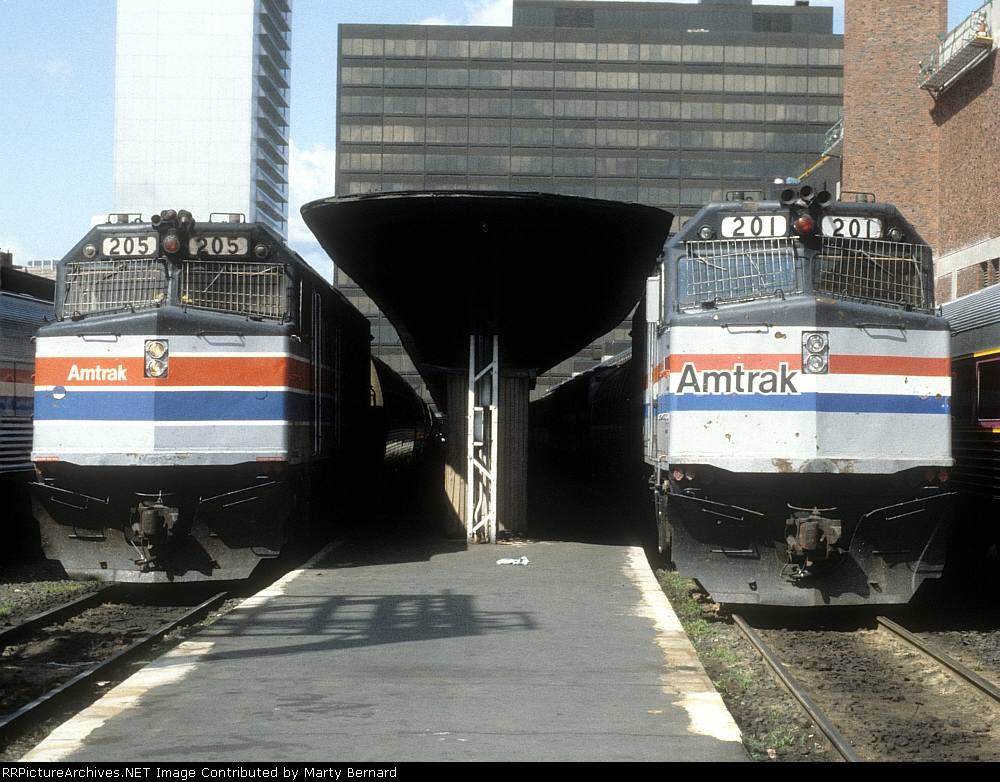 Amtrak 205 and 201 at South Station