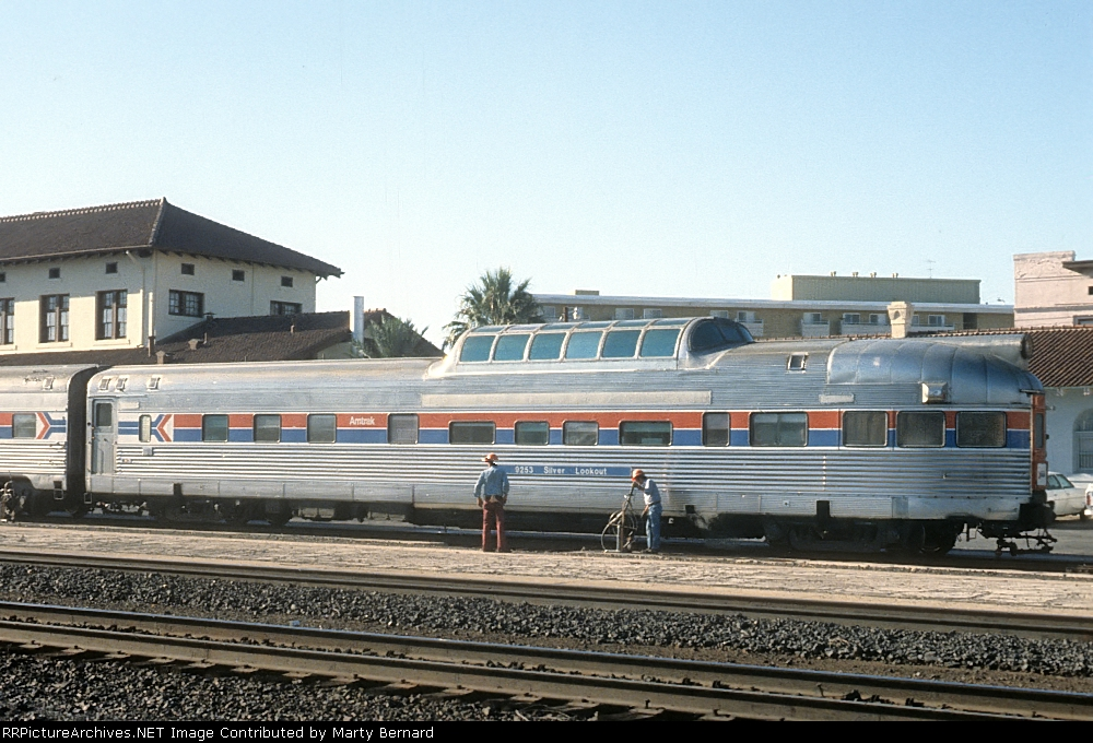 AMTK 9253 Silver Lookout, ex-CB&Q, California Zephyr, Now in Private Ownership