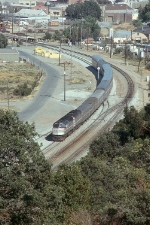 Amtrak 211 and 342 Lead the Cailfornia Zephyr in 1991