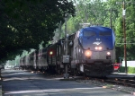 Amtrak 151 Leads at a Gentle Pace The Silver Star Down the Shaded Street on a Beautiful Virginia Evening