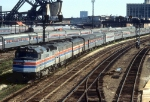 AMTK 256 and Two 400 Series E-units Backing out the Broadway Ltd. at 12th St.