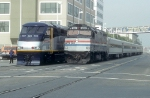 Amtrak 283 (Tr. 721) and Cal DOT 2001 in Jack London Square
