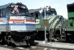AMTK 311 With Tr. 8, The Empire Builder Getting Its Front Window Washed